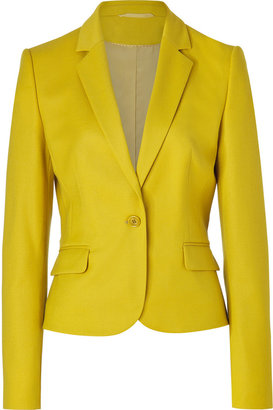 HUGO Bright Yellow Wool Stretch Afiraly One Button Jacket