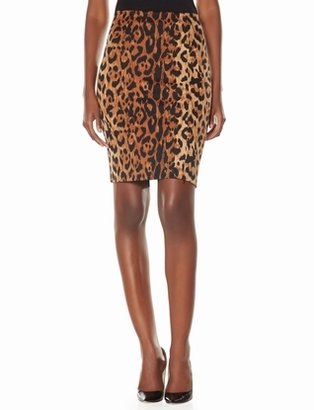 The Limited Leopard Print High Waist Pencil Skirt
