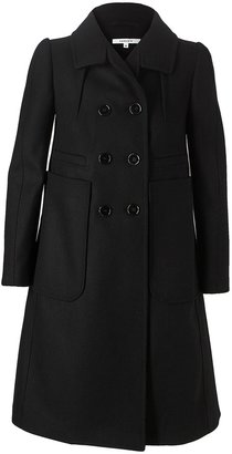 Carven Double-breasted brushed wool coat