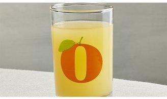 Crate & Barrel Squeeze Orange Juice Glass