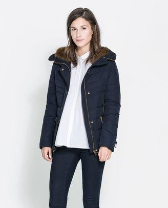 Zara Short Puffer Anorak