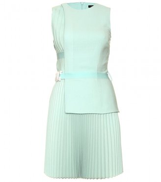 Christopher Kane PLEATED DRESS WITH CREPE BODICE