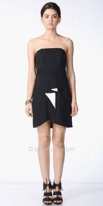 eDressMe Strapless Ruffled Day Dress