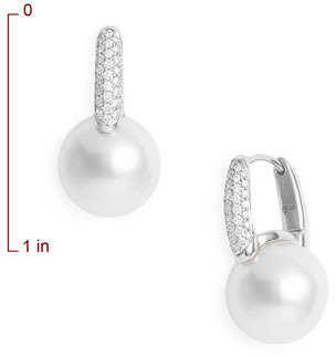 Mikimoto 'Classic Elegance' Diamond & Cultured Pearl Earrings