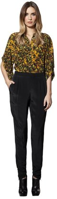 House Of Harlow Tapared Silk Crepe Pant