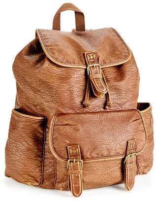 Aeropostale Faux Leather Backpack