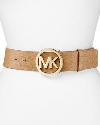 MICHAEL Michael Kors Belt - Logo On Pebble Leather
