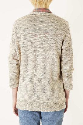 Topshop Knitted Slubby Stitch Cardi