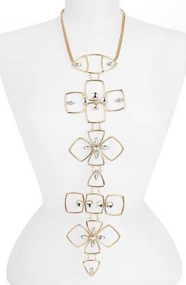 Topshop 'Mega Metal Flower' Statement Necklace