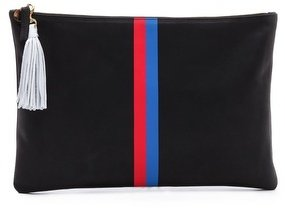 Clare V. Stripe Oversized Clutch