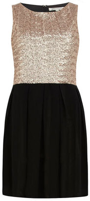 Dorothy Perkins Black and gold sequin dress