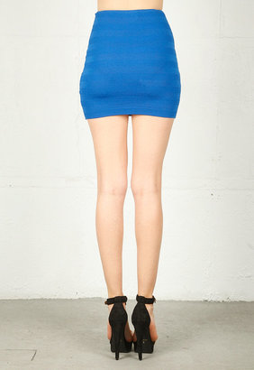 Torn By Ronny Kobo Claire Skirt in Royal Blue -