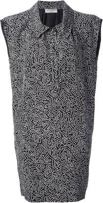 Saint Laurent printed shirt dress