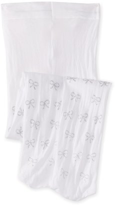 Country Kids Girls' Lurex Bow Tights