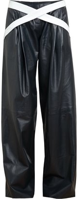J.W.Anderson Wide-legged Leather Trousers