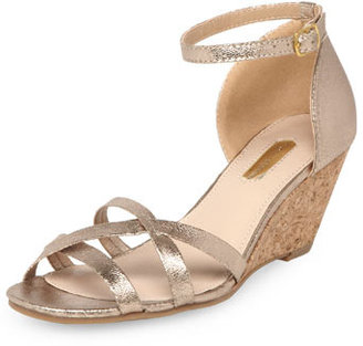 Dorothy Perkins Gold strappy mini wedges