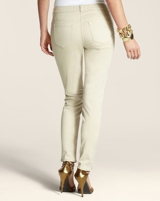Chico's Casual Sateen Zip Pant