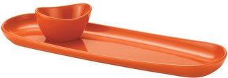 Rachael Ray Baguette Tray with Dipping Cup, Orange