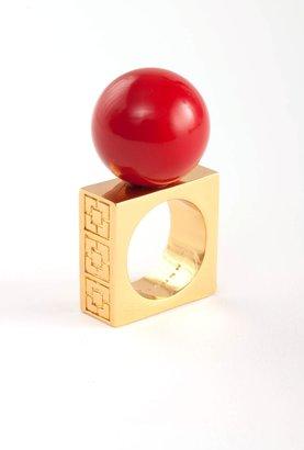 Trina Turk Black Resin Ball Ring