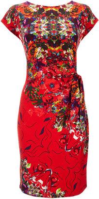 Wallis Red Floral Print Tie Side Dress