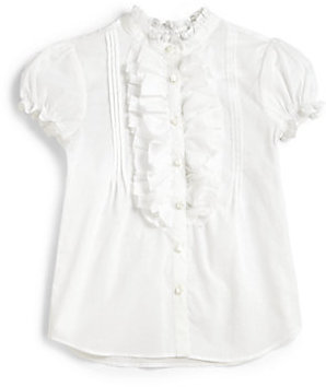 Ralph Lauren Toddler's & Little Girl's Cotton Batiste Top