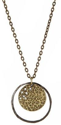 Diana Warner Double Disc Pendant Necklace