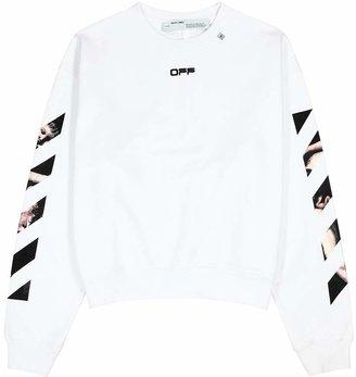 Off-White Caravaggio Arrows White Cotton Sweatshirt