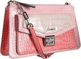 GUESS Kora E/W TopZip (Blush Multi) - Bags and Luggage