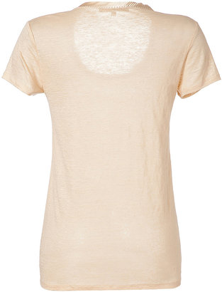 Vanessa Bruno Beige-Rose Linen Top