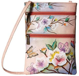 Anuschka 448 Mini Double Zip Travel Crossbody