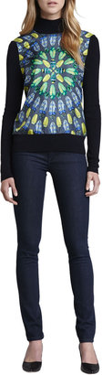 Tory Burch Denim Leggings, Rinse