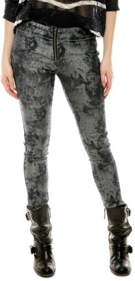 Members Only Silver Denim Leggings
