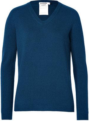 Jil Sander Cashmere Pullover in Prussian Blue