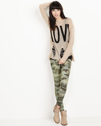Romeo & Juliet Couture Camouflage Scuba-Jersey Leggings