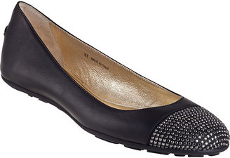 Jimmy Choo Wrena Ballet Flat Black Leather