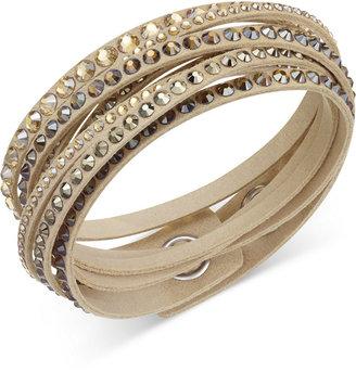 Swarovski Slake Deluxe Crystal Stud Wrap Bracelet $69 thestylecure.com