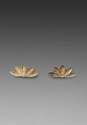 House Of Harlow Feather Stud Earring