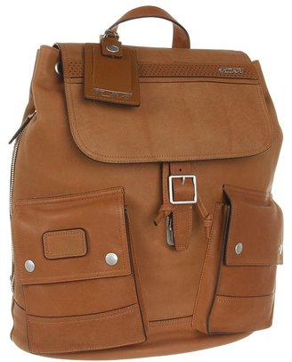 Tumi Ducati - Scrambler Leather Rucksack (Saddle) - Bags and Luggage