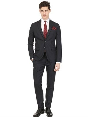 DSquared Pinstriped Wool Flannel Tokyo Suit