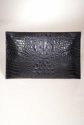 JJ Winters Blake Lively Croco Envelope Clutch in Black