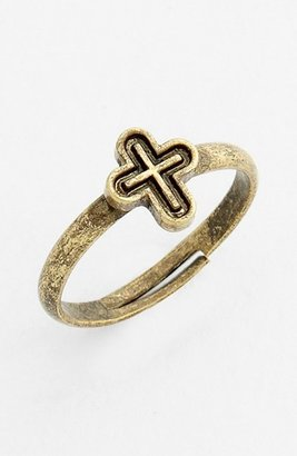 Stephan & Co Cross Adjustable Midi Ring (Juniors) (Online Only) Gold One Size
