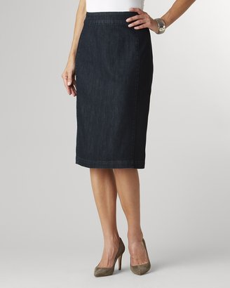 Coldwater Creek Denim pencil skirt