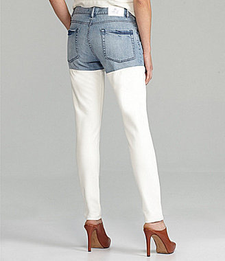 BCBGeneration Jasper Colorblock Faux-Leather Jeans