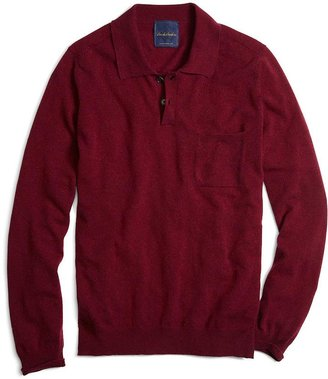 Brooks Brothers Pink Cashmere Knit Polo