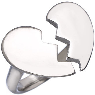 Blu Bijoux Silver Broken Heart Ring