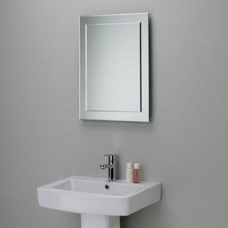 John Lewis & Partners Duo Wall Bathroom Mirror, 60 x 45cm