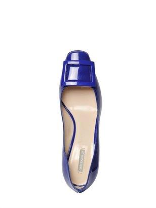 Giorgio Armani 70mm Patent Leather Buckle Pumps