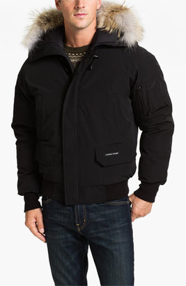 Canada Goose 'Chilliwack' Down Bomber Jacket with Genuine Coyote Trim $750 thestylecure.com