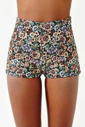 Nasty Gal Painted Rose Shorts