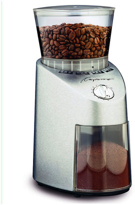 Capresso Infinity Die Cast Stainless Steel Conical Burr Grinder